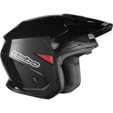 Hebo Zone 5 Black MONO Visor Trials Helmet   Offroad Trail Greenlane Medium