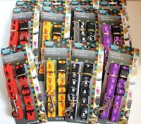 """LOT of 12 SETs Dog Puppy Pet COLLAR With LEASH Lead Training Nylon NECK 12"""" -18"""""""