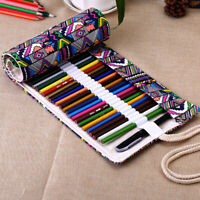 Ethnic style Color Pencil Case Pen Bag Canvas Drawing bag for students Kids new