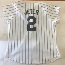 8efb5220235 Derek Jeter   2 New York Yankees Youth Kid Stitched Baseball Jersey Small  E60