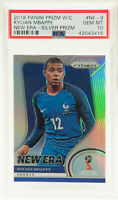 2018 Panini Prizm Kylian Mbappe World Cup New Era Silver France Rookie RC PSA 10
