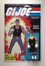 Custom Made Rocky Balboa 3 3/4 GI Joe Vintage Style ARAH Action Figure MOC