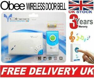 Double Wireless Door Bell 32 Chime UK Wall Bells 100M Range Doorbell Home Office