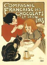 Repro Art Nouveau Style Advertising Print 'Chocolat.....'