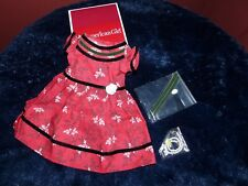 American Girl Doll Cecile's Special Red Dress Outfit NEW!! Retired