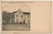Watterson's Store Building in Blairsville PA Postcard