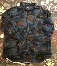 Big Tall Croft Barrow Regular-Fit Twill Button-Down Shirt XXL Pheasant Blue