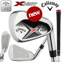 Callaway X Hot Men's Golf Irons Steel 5-PW+SW (7 Irons) - NEW! 2020