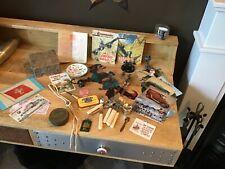 A vintage joblot of bits and bobs including postcards etc