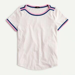 J crew Boat Neck Short Sleeve Shirt NWOT