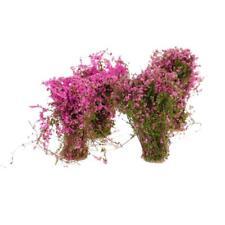4 Fuchsia Cluster Flower Ground Cover Model Mini for RR Garden Layout Toy