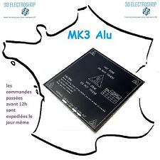 Plateau chauffant alu MK3 200x200 imprimante 3d, heatbed