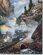 Silverbelle Run steam train scene TIN SIGN metal poster wall art home decor 1033
