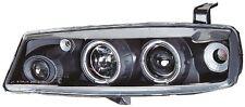 Vauxhall Calibra 1986-1997 Black Halo Angel Eye Projector Front Headlights Light