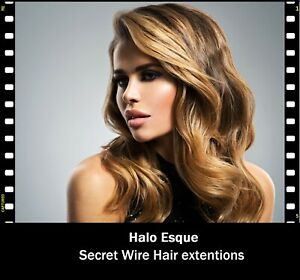 Remy Halo Esque Hair Extensions Deluxe 160g Secret Wire for Hair Lovers! UK Made