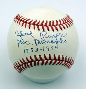 Jesse Rogers - Autographed Ball - Kansas City Monarchs  - Negro Leagues 1953-54