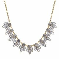 Fashion Crystal Women Chain Pendant Rhinestone Choker Statement Bib Necklace