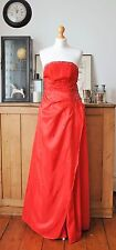 LONG FORMAL PROM COCKTAIL PARTY BALL GOWN EVENING BRIDESMAID RED DRESS SIZE M