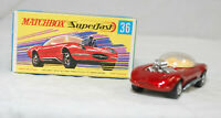 MATCHBOX SUPERFAST - SF-036B VER 1, HOT ROD DRAGUAR, RED, UNP BASE JB2659