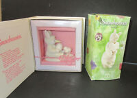 """Set of 2 Dept 56 Snowbunnies:""""Love Grows"""" trinket Box  """"Are you my Mama"""" Retired"""