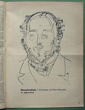 KOKOSCHKA 1910: original lithograph print in: Der STURM;  Herwarth Walden
