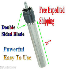 """3/8"""" Double Sided Rotary Spot Weld Cutter Bit Sheetmetal Tack Remover Drill"""