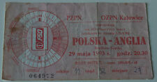 old TICKET * World Cup 1994 q * Poland England in Chorzow