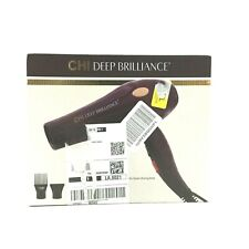 CHI Hair Dryer Deep Brilliance 1875W  Removable Filter Cool Shot 2 Attachments
