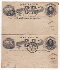 Costa Rica USED Postal Card Prospero Fernandez Esparta 1884 With Reply AMC