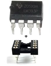5PCS Texas Instruments LM393AP + Sockets Dual Differential Voltage Comparator IC
