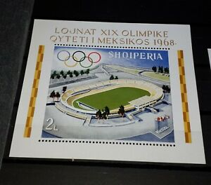 Albanië olympic games sheet mexico 1968 postfris mnh