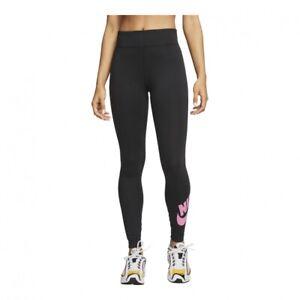 NIKE WOMEN'S HIGH WAISTED FUTURA LEGGINGS GRAPHIC BLACK/PINK XS OR S #CJ2297-NWT