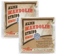 2 paquetes de cuerdas para mandolina Pro Set Completo De Bronce Fosforoso bucle de la herida final 10/34 Luz
