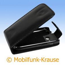 Flip Case Etui Handytasche Tasche Hülle f. HTC Desire C (Schwarz)