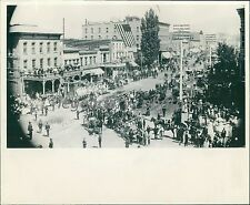 1887 Fourth of July Parade Salt Lake City Utah Original News Service Photo