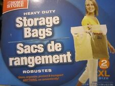 "Stor-it Extra Large Storage Bags 20.5"" x 17"" With Handle, Pk of 2 by GREENBRI..."