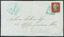 1841 1d Red-Brown SG Superb Rare Blue Irish Diamond '57' of BANAGHER on Front