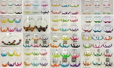 Wholesale Jewelry lot 10  pairs Big Colorful Fashion Hoop Earrings Us-seller 197