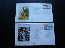 FRANCE - 2 enveloppes 1er jour 1971 (esprit auber/journee timbre) (cy71) french