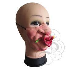 MEZZA faccia Commedia Divertente UMORISMO PERSONE FIORE CUORE KISS ADDIO AL CELIBATO NUBILATO fantasia lattice Maschera