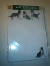 OTTER HOUSE WRITING PAPER  BORDER COLLIE  CHRISSIE SNELLING  20 SHEETS & ENV
