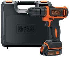 BLACK+DECKER Perceuse-visseuse sans fil 12V Avec 1 Batterie Et Chargeur Neuf