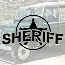 SHERIFF Marke Schriftzug Aufkleber Polizei decal HIGHWAY PATROL US ARMY