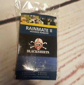 Rainmate 2 Hooded Poncho Blackshirts Collegiate Licensed Pdt Skull Cornhuskers