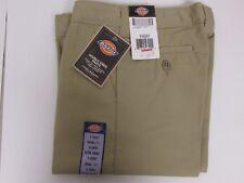 NEW Dickies Boys Khaki Pants School Uniform Size 8 H Husky Flex Casual Fit