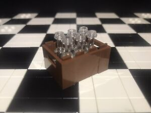 Lego Utensil Crate With 6X Translucent Wine Bottles / Minifigure Not Included.