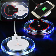 Qi wireless USB Charger Pad for Samsung Galaxy S6 Edge S7/S8+iPhone 8 Plus X US
