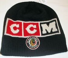 Chicago Blackhawks Winter Knit CCM Hat - Adult Osfa - New