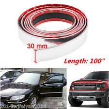 "100"" Car Bumper Door Edge Lip Guard Chrome Decor Protector Moulding Trim Strip"
