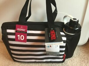 Thermos Insulated Lunch Duffle Isotec With Water Bottle ZIP Top Soft Cooler NEW